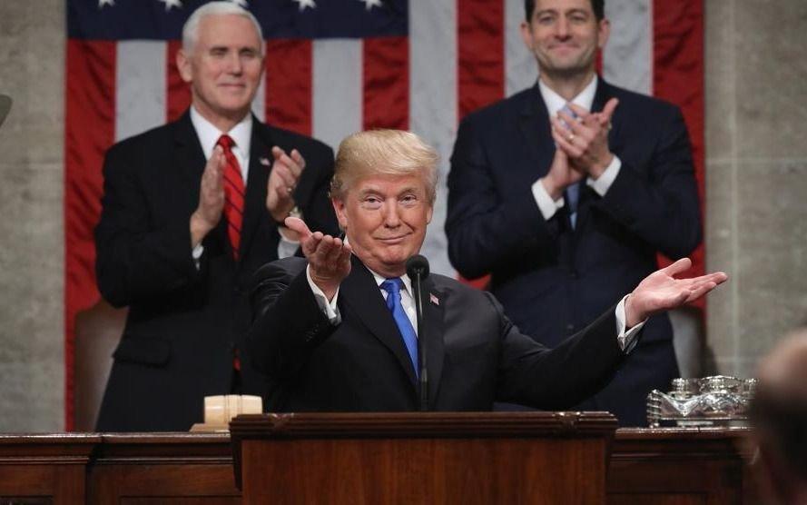 Trump dice que su discurso 'fue el más visto de la historia'