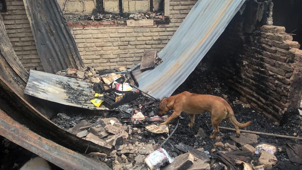 Espiral causó un incendio que dejó en la calle a una familia y mató a mascotas