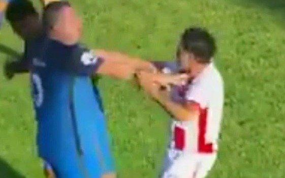 Un partido de veteranos entre Boca y River de Uruguay terminó mal