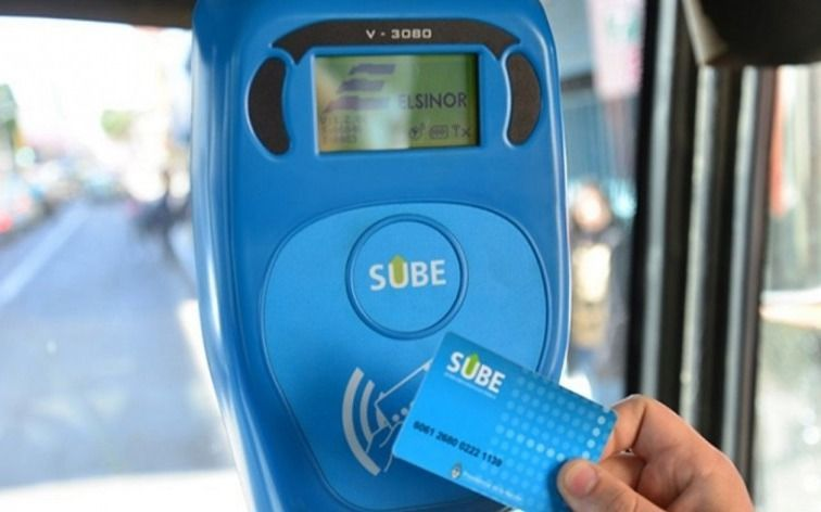 El saldo negativo de la tarjeta SUBE se amplía a $ 54