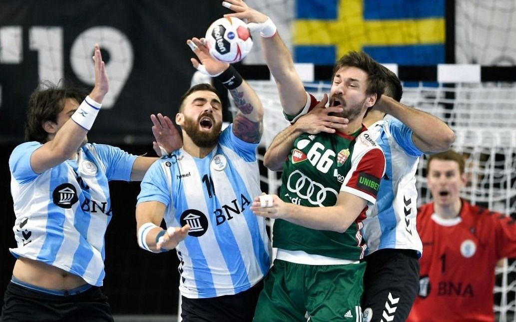 Argentina igualó con Hungría en el debut del Mundial de handball