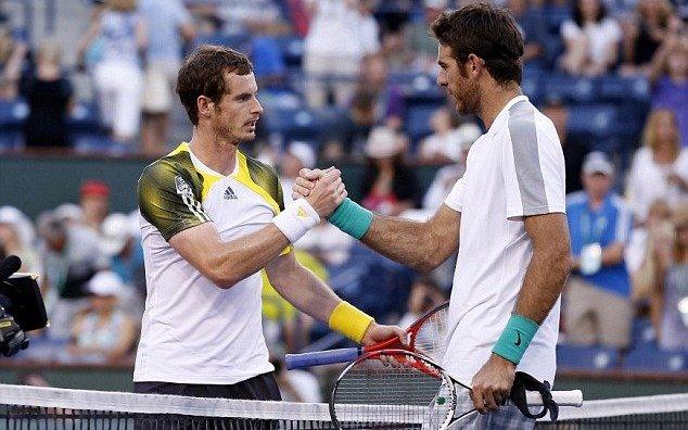 Delpo le envió un mensaje de apoyo al escocés Andy Murray por el anuncio de su retiro