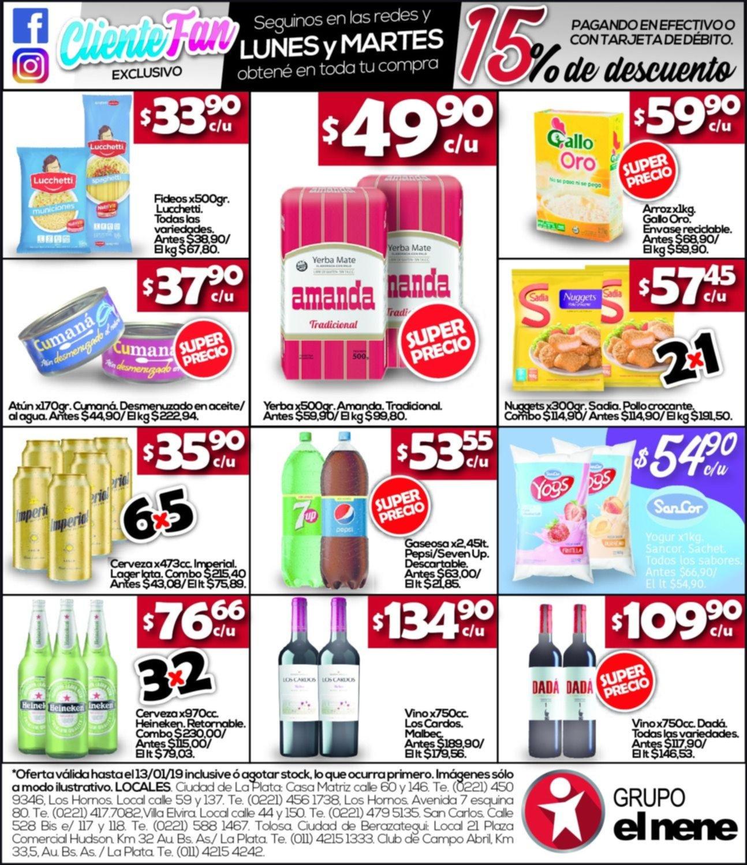 Grupo El Nene: Pasá lista a lasimperdibles ofertas deesta semana en productos de almacén