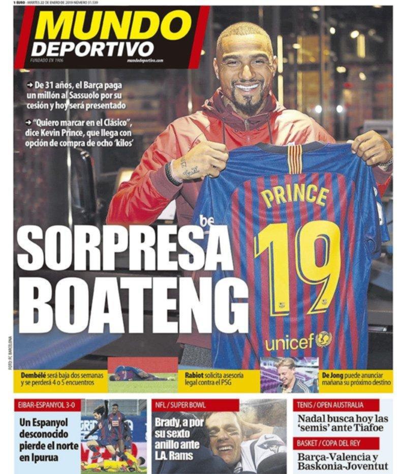 Kevin Prince Boateng debuta como titular en el Barça