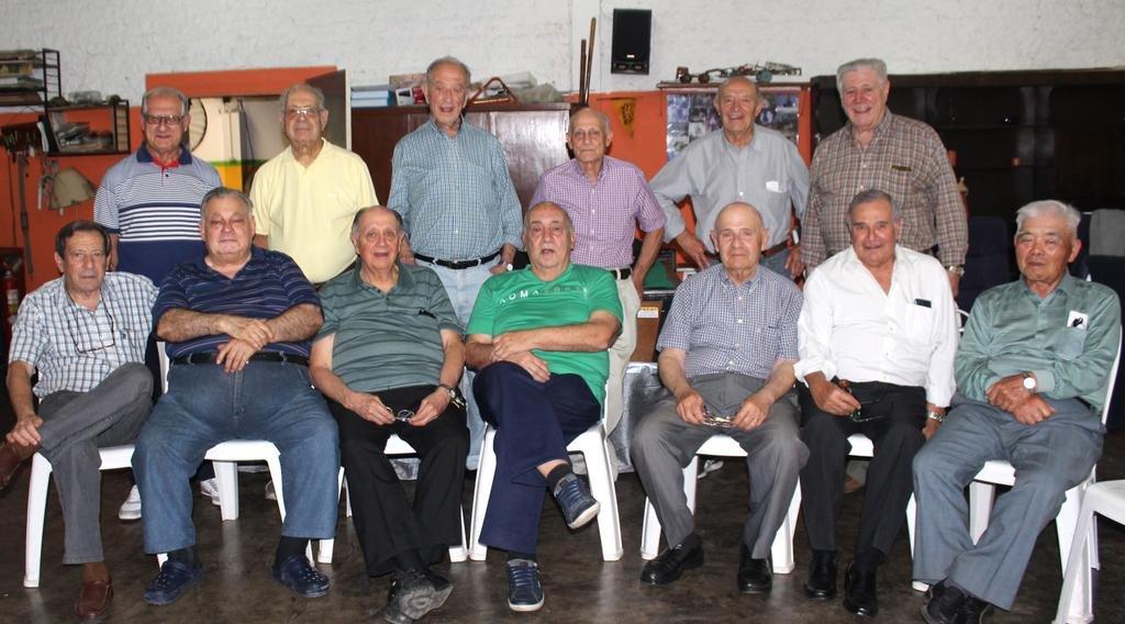 Se reunieron para festejar los 60 años del final de sus estudios