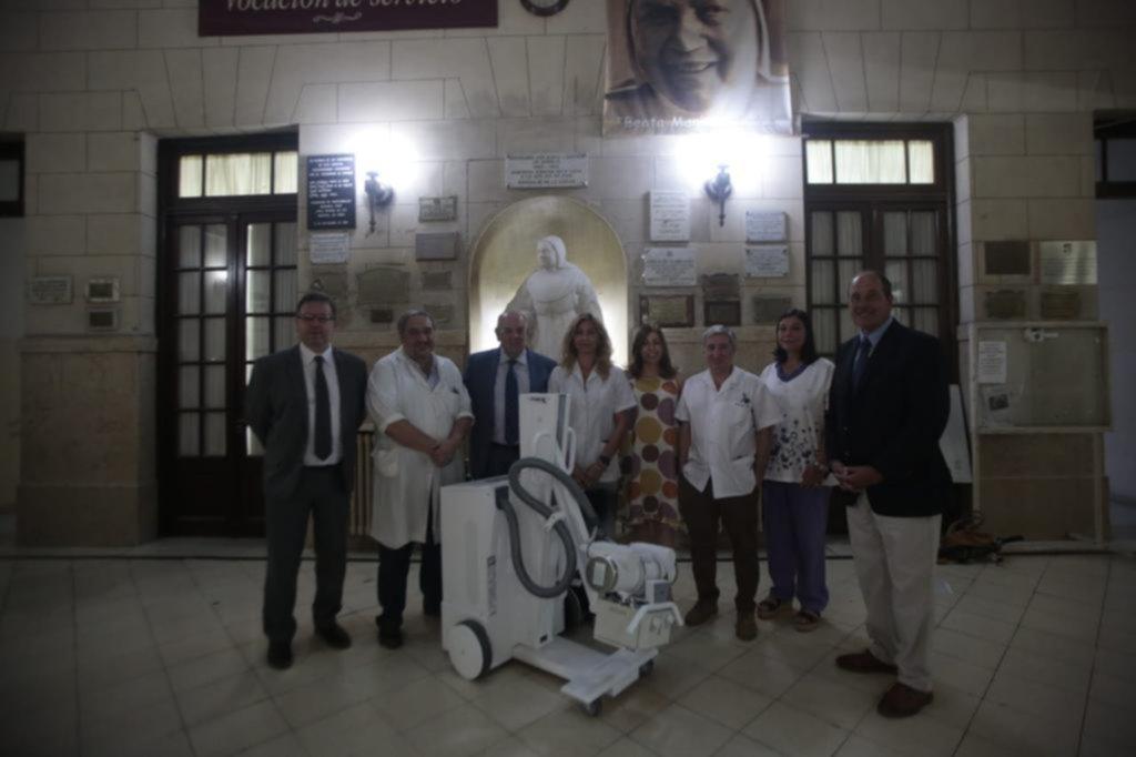 Emoción en el Hospital de Niños por la donación de un equipo de radiología