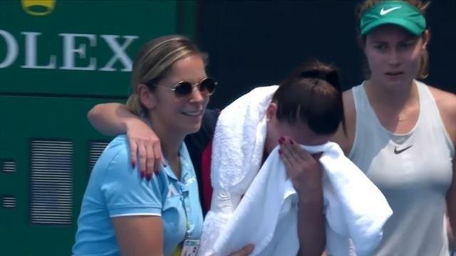 El humo tiene a maltraer a los tenistas en el Open australiano