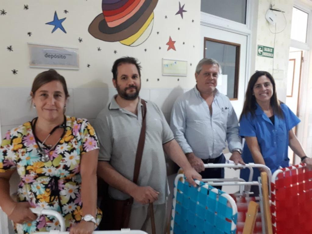 Donación del Rotary City Bell para la sala 9 del Hospital de Niños de La Plata