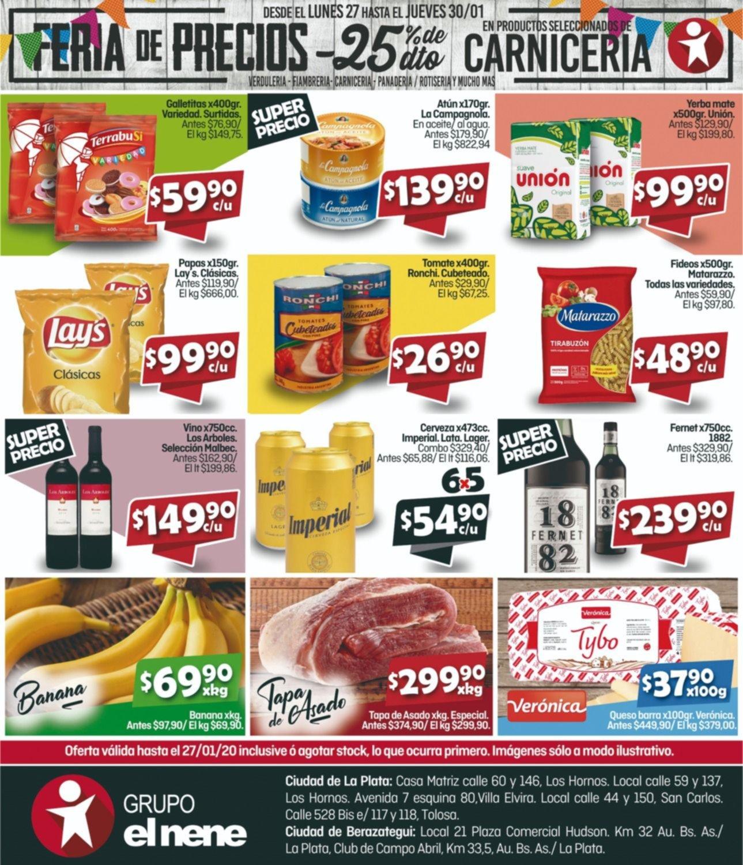 Feria de precios del lunes 27 al jueves 30