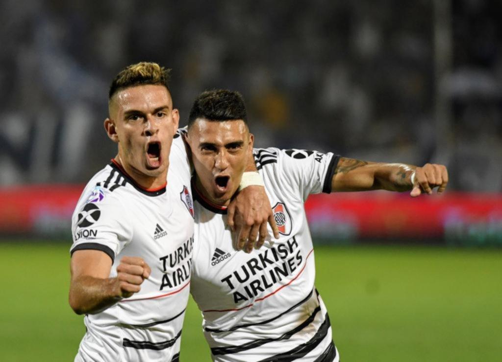 River se quedó corto con el 1-0, pero le ganó a Godoy Cruz en Mendoza y es el único puntero