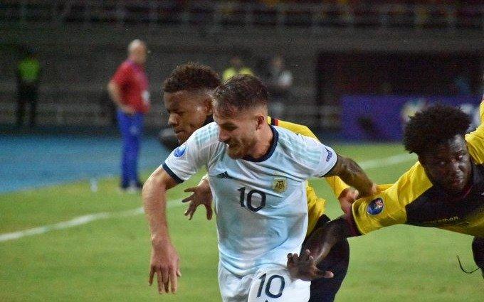 Argentina venció a Ecuador y está casi clasificada a la fase final del Preolímpico de fútbol