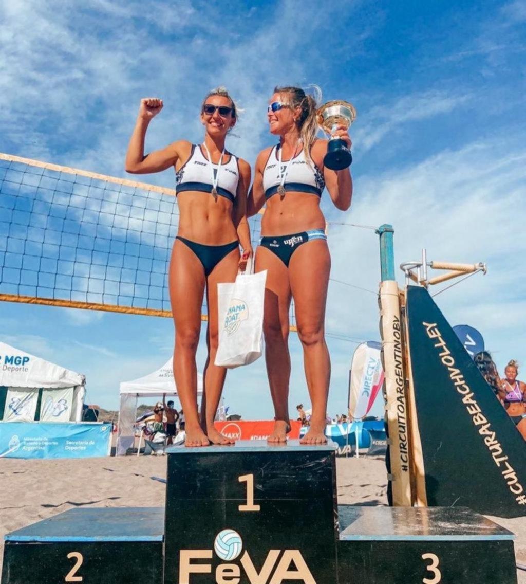 La platense Churín se coronó en Beach Volley
