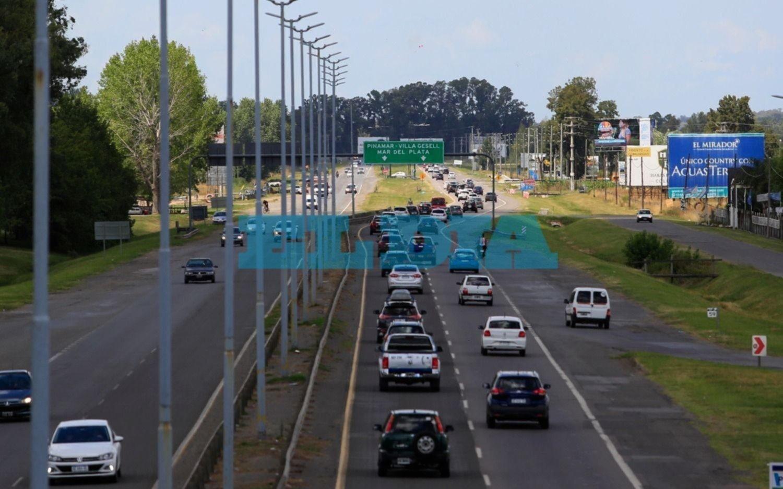 Cambio de quincena: tránsito intenso en las rutas rumbo a la Costa Atlántica