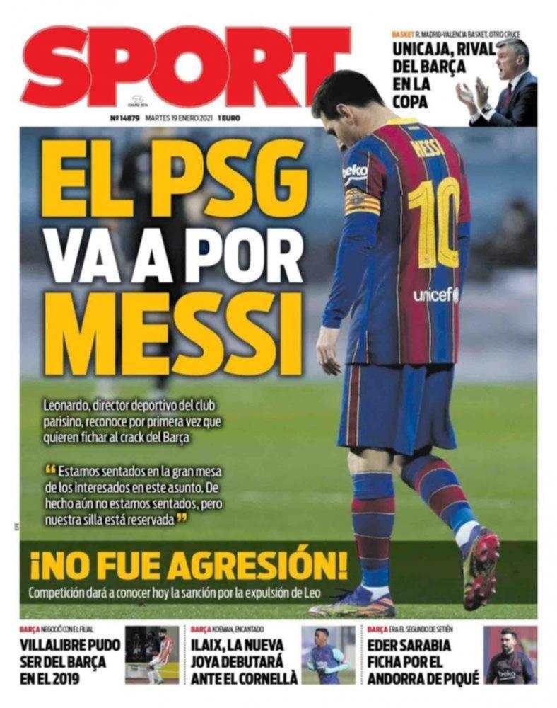 Arden las portadas de los medios españoles con el posible pase de Messi al PSG