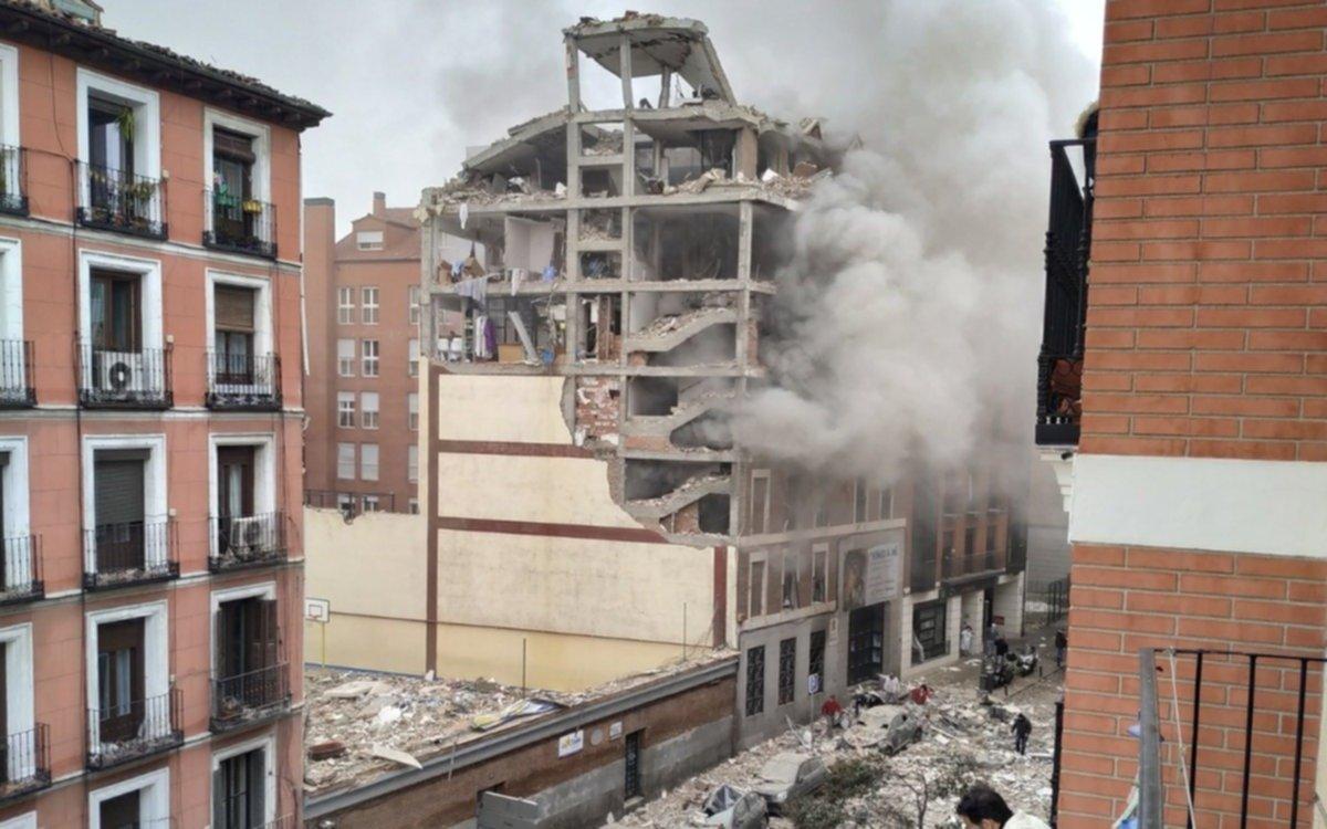 Conmoción en Madrid: ya son 3 los muertos por la impresionante explosión en un edificio céntrico