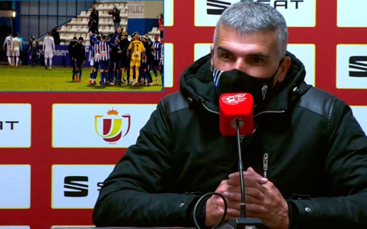 """El DT del equipo que elimino al Real: """"no estamos acostumbrados a verlos de cerca"""""""