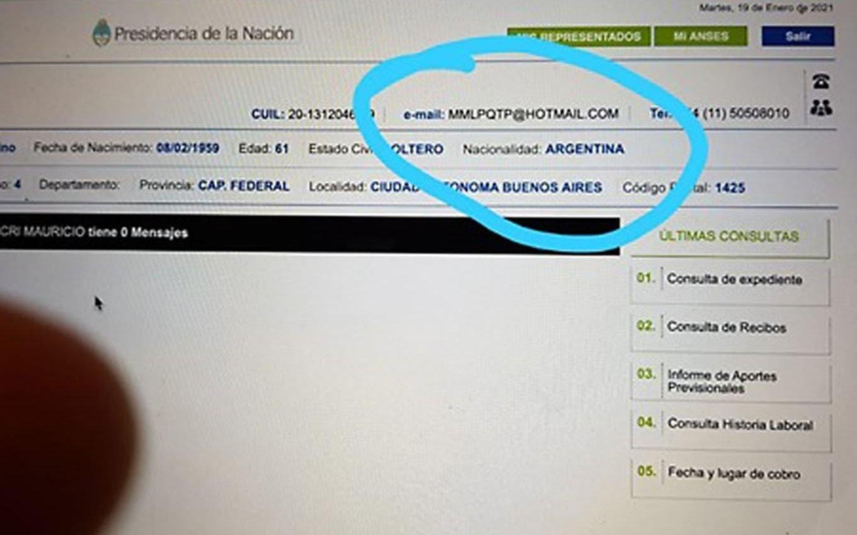 """Denuncian que hackearon la cuenta de Mi Anses de Macri y pusieron """"MMLPQTP"""""""