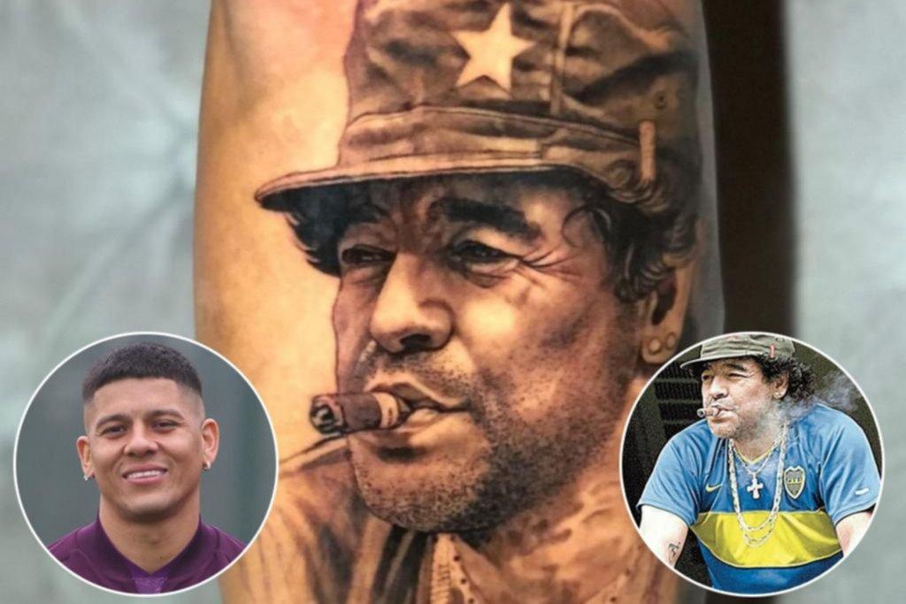 Un tatuaje parece haber dejado a Marcos Rojo más cerca de Boca