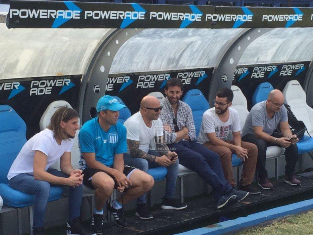 Sampaoli visitó el entrenamiento de Independiente