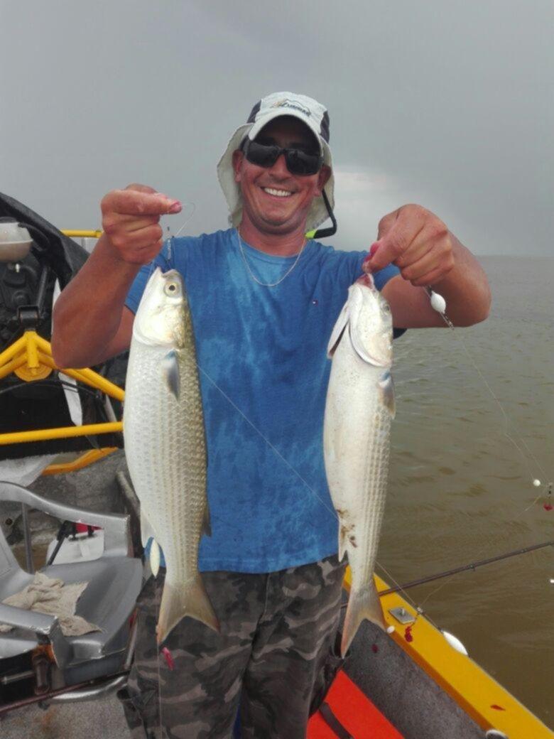 Para la pesca de lisas, Mar Chiquita es uno de los mejores lugares para poder disfrutar