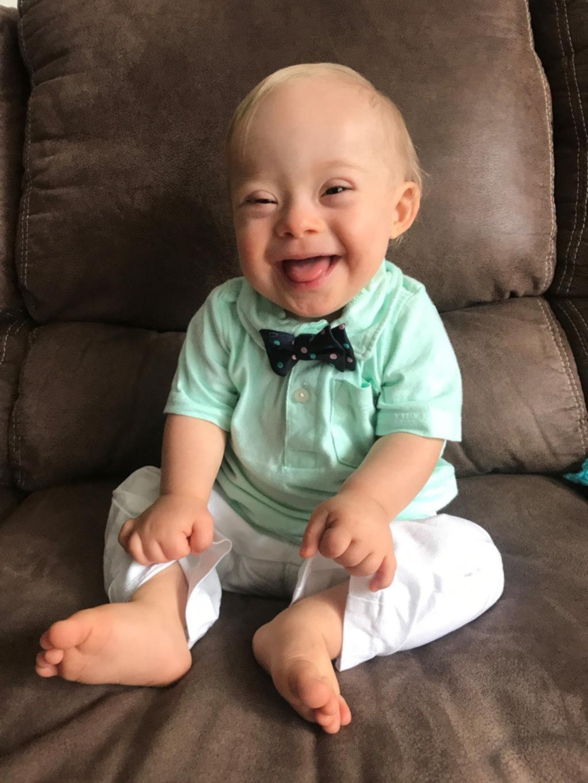 Un bebé down será la cara de una marca para chicos