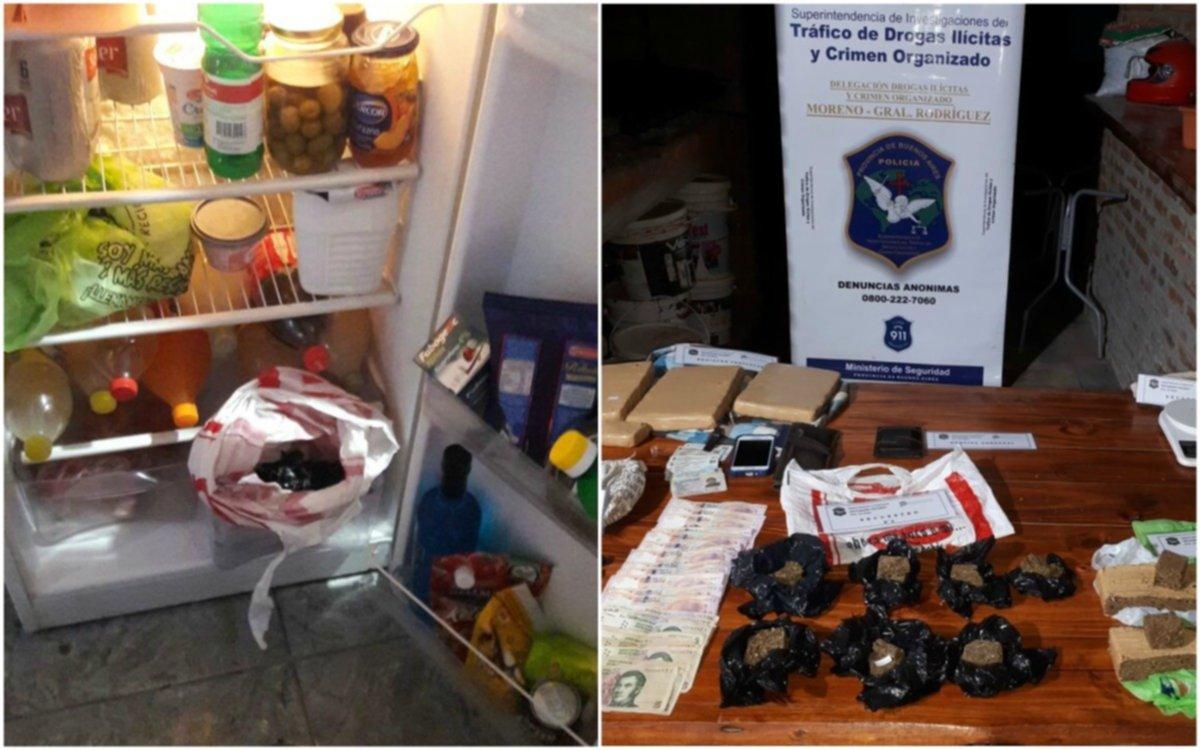 """Detuvieron al """"Narco Frío"""", que ocultaba la droga en la heladera"""