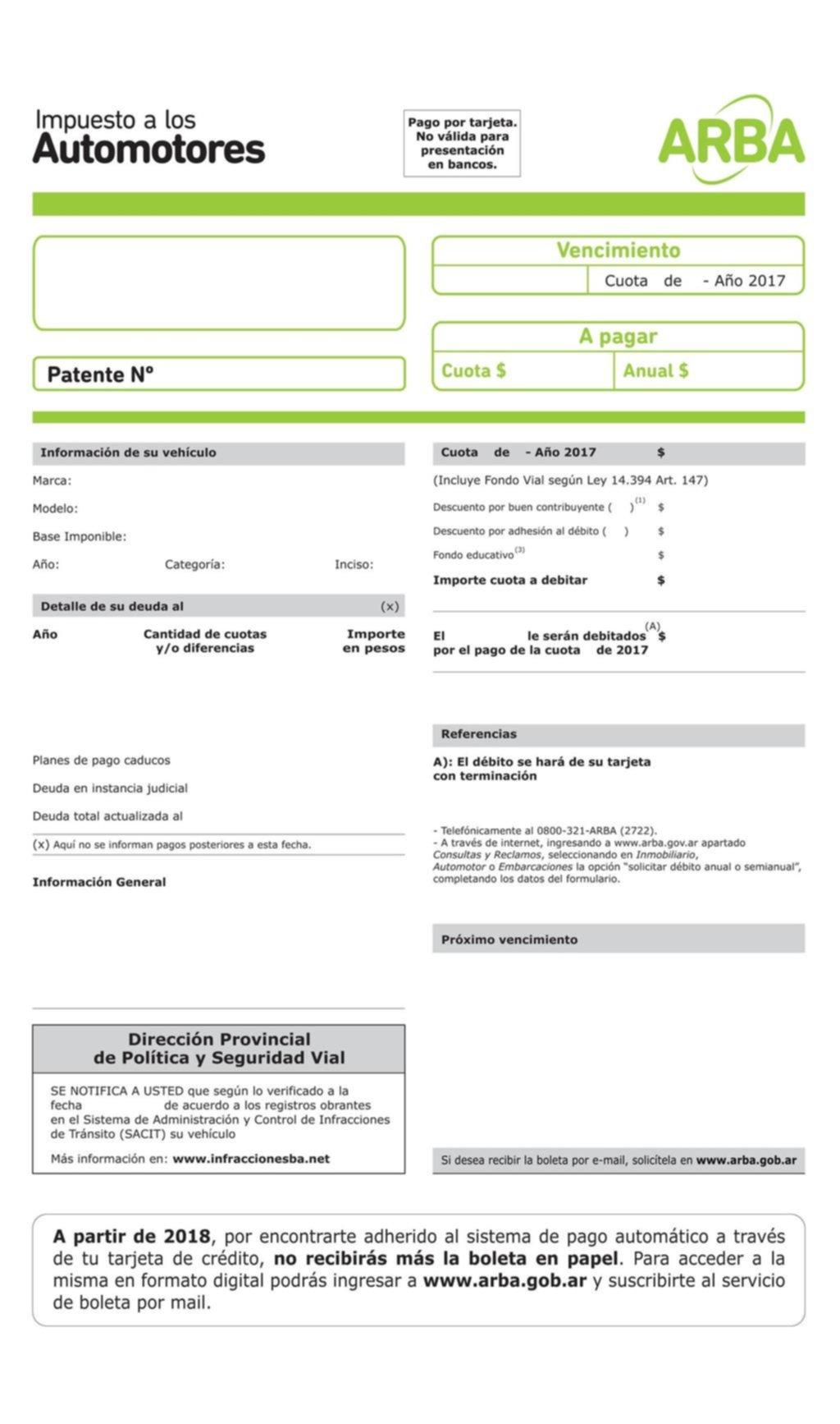 patentes automotor arba