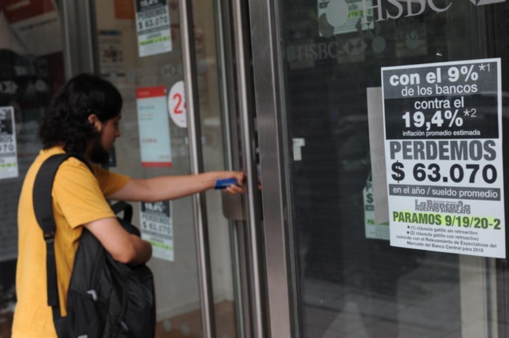 El gremio bancario aseguró que el paro tuvo un acatamiento del 96 por ciento