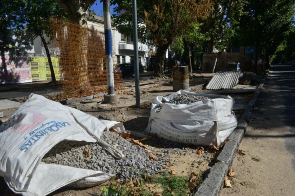 Enérgicos reclamos por los trabajos paralizados en la rambla de avenida 60