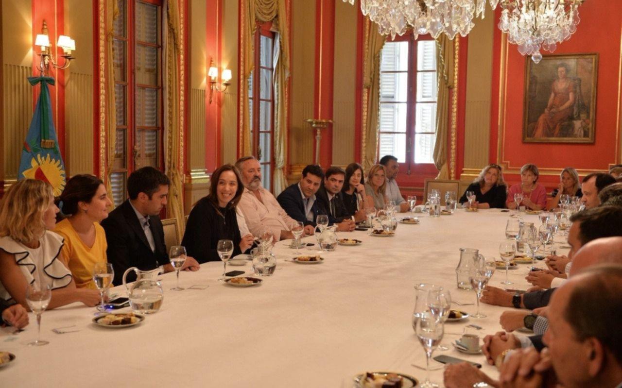 La Gobernadora analizó la agenda legislativa con diputados bonaerenses de Cambiemos