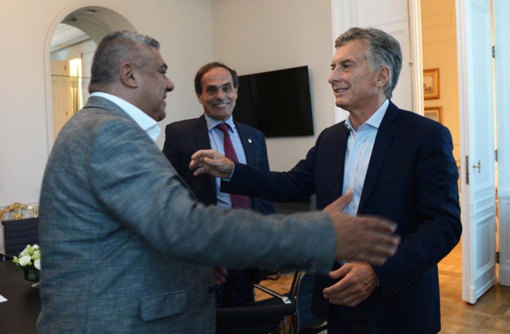 Macri recibió a Chiqui Tapia en Casa Rosada