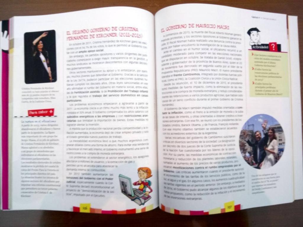 Denuncian que un manual escolar de 6º grado hace propaganda al gobierno