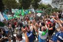 Se cumplió el segundo día de paro bancario con una protesta frente a la Suprema Corte
