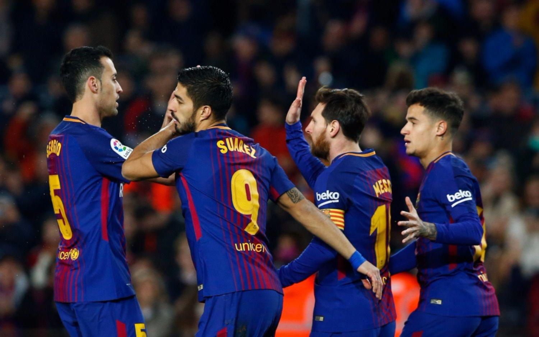 Doblete y asistencia de Messi para el Barcelona, que goleó al Girona en el Nou Camp