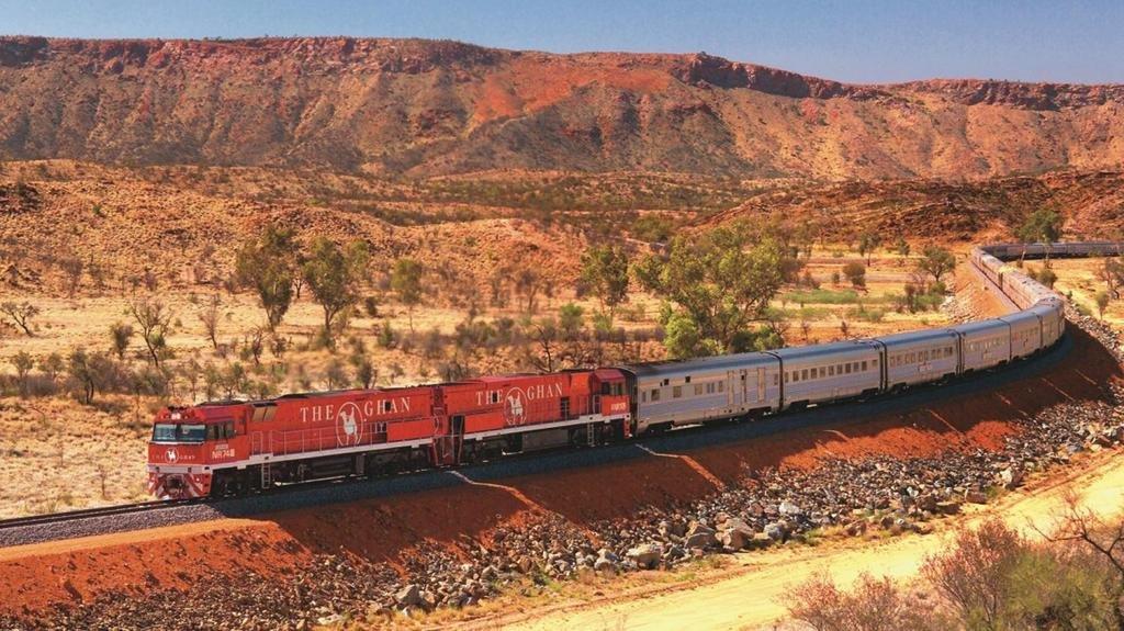 Trenes de lujo para recorrer los paisajes, fauna y flora de Australia en toda su extensión