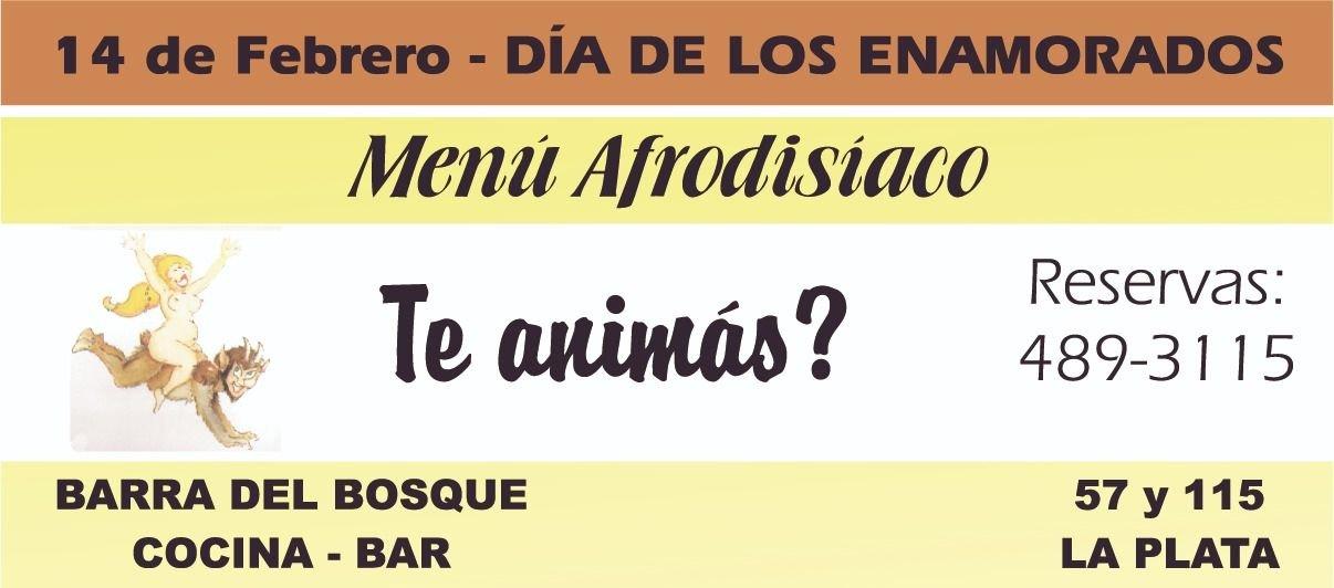 Barra del Bosque te ofrece este jueves menú afrodisíaco