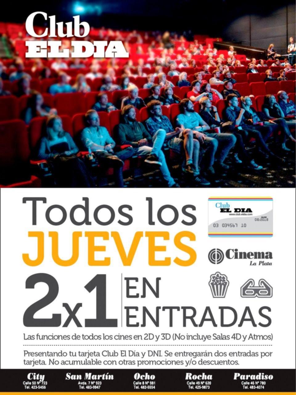 ¿Vamos al cine? Todos los jueves, dos por uno en entradas con Club El Día