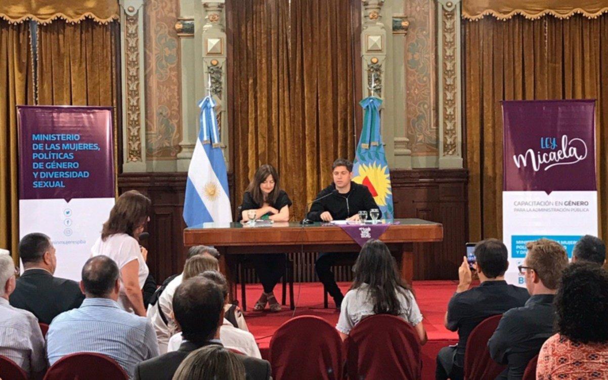 """Kicillof y el gabinete se capacitaron en temas de género por la """"Ley Micaela"""""""