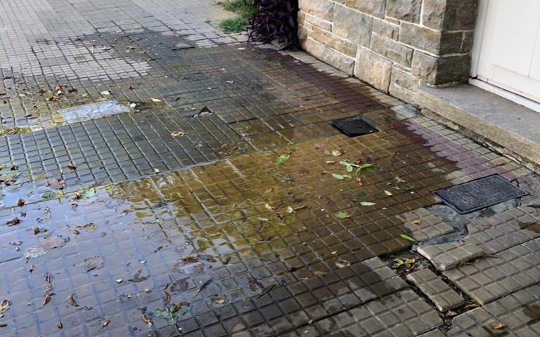 Pérdida de agua, desechos y fuertes olores  en vereda de 18, 44 y diagonal 76