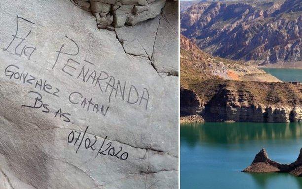 Hicieron un grafiti en un paseo turístico y ahora la Justicia los obligó a pagar su limpieza