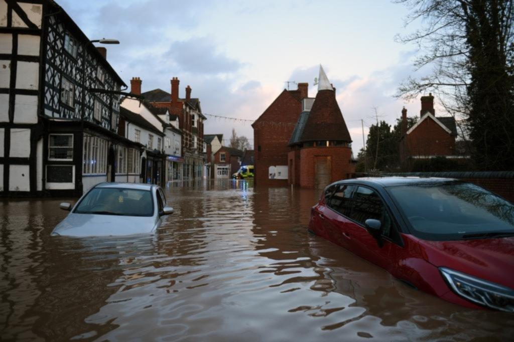 Una fuerte tormenta con vientos intensos golpea al Reino Unido