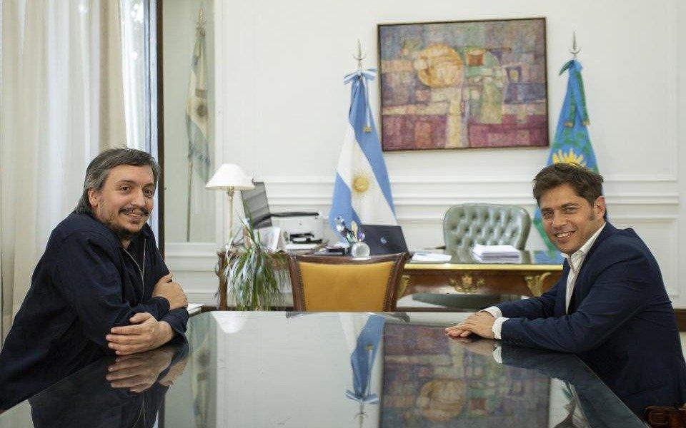"""Kicillof se reunió con Massa y Máximo Kirchner para avanzar en un eje """"transversal"""" en el Congreso"""