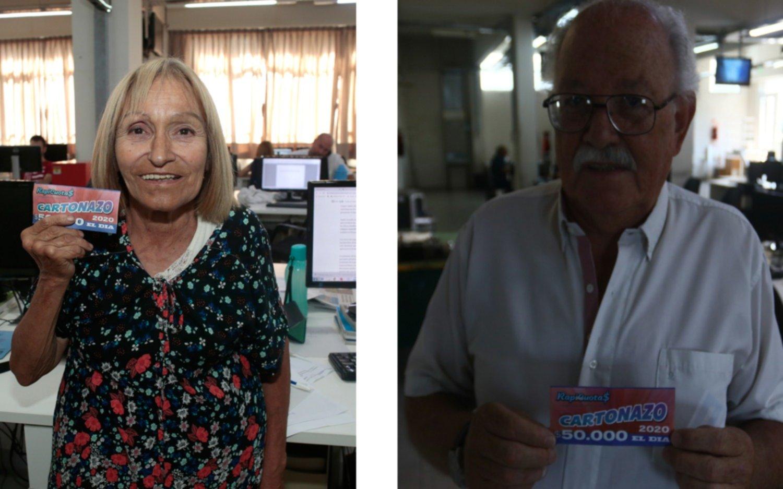 El Cartonazo por 50 mil pesos quedó en manos de dos ganadores