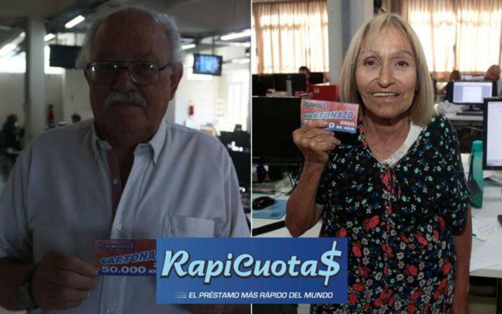 Dos jubilados se quedaron con los $50.000 del Cartonazo