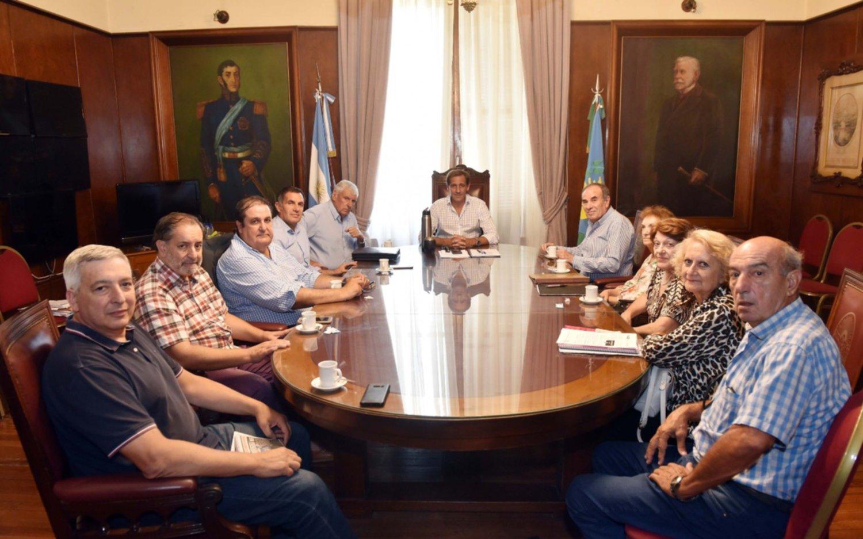 Garro recibió a autoridades de la Federación de Instituciones