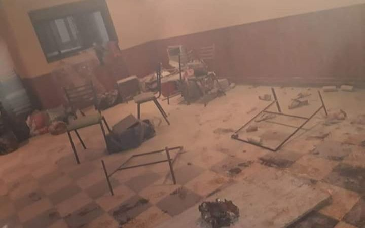 Un incendio afectó a una comparsa ensenadense