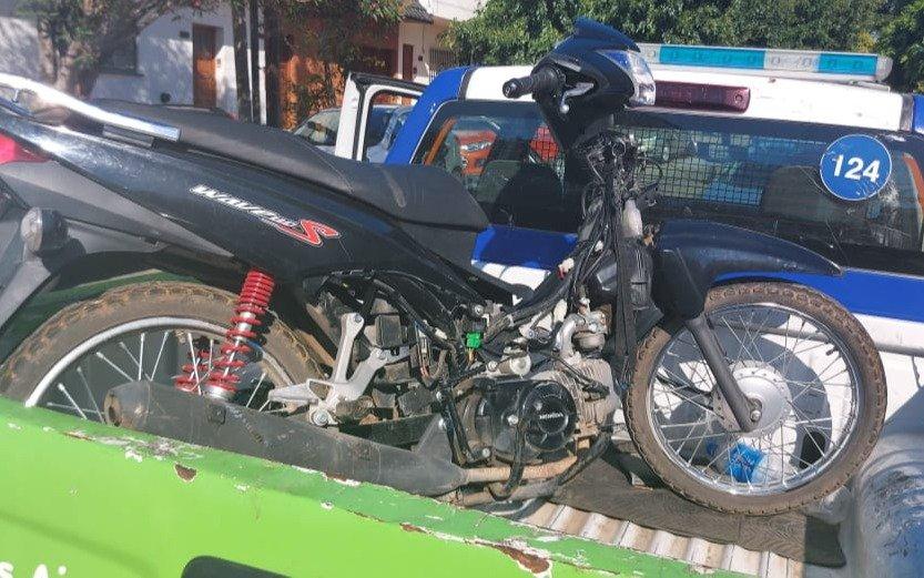 Cayeron dos ladrones de motos cuando circulaban con el botín