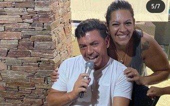 """Marcelo Gallardo """"cantante"""" en un festejo familiar"""