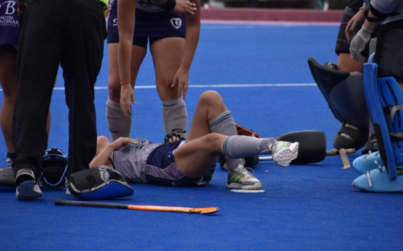 """""""Mi pie va para el otro lado"""": la impresionante fractura de tobillo de una jugadora de hockey tucumana"""