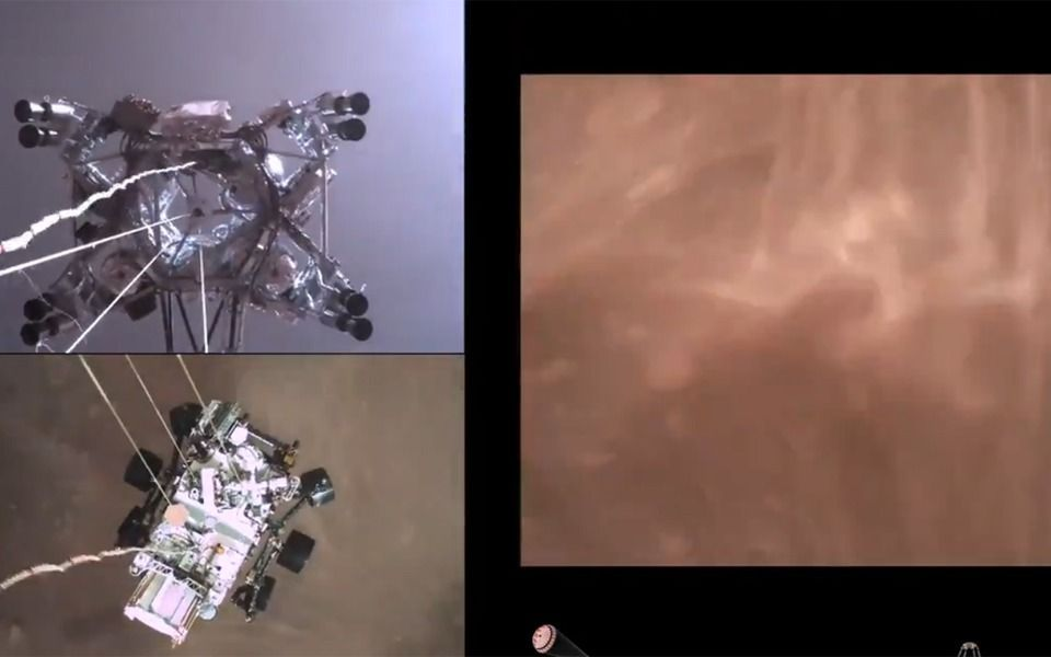 La NASA mostró el video del aterrizaje del Perseverance en Marte
